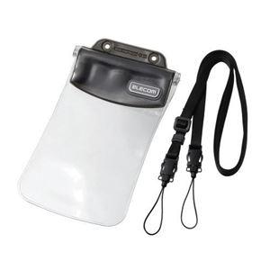 (まとめ)エレコム スマートフォン用防水・防塵ケース(オールクリアタイプ) P-02WPS3BK【×3セット】