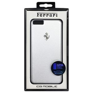 Ferrari 公式ライセンス品 PERFORATED - Hard Case - Aluminum Plate - Silver FEPEHCP6LSI