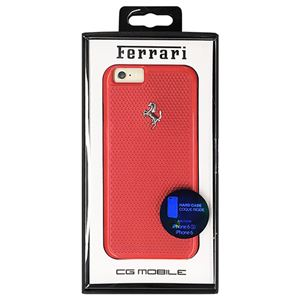 Ferrari 公式ライセンス品 PERFORATED - Hard Case - Aluminum Plate - Red FEPEHCP6RE