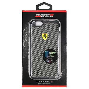 Ferrari 公式ライセンス品 SHOCKPROOF - 2 Part Hard Case - Glossy - Carbon Print FESPHCP6CA
