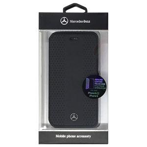 Mercedes 公式ライセンス品 STRIPES I パンチングレザー手帳型ケース Black MEFLBKP6PEVSBK