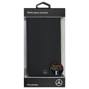 Mercedes 公式ライセンス品 STRIPES I パンチングレザー手帳型ケース Black MEFLBKP6LPEVSBK