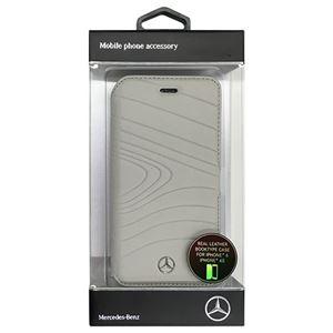 Mercedes 公式ライセンス品 ORGANIC III 本革手帳型ケース Crystal Grey MEFLBKP6OLGR