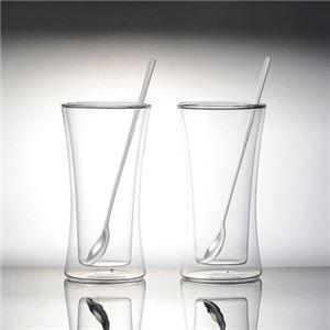 耐熱二重ガラスタンブラーペアセット(ロングスプーン付)
