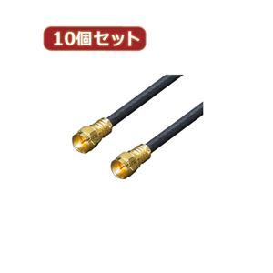 変換名人 10個セット アンテナ 4Cケーブル 3.0m + L型 F4-300X10
