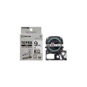 (まとめ) キングジム テプラPRO専用テープ 耐熱ラベル テープ幅9mm SN9K 【×5セット】