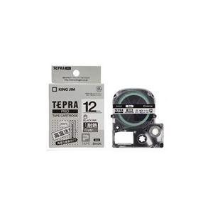 (まとめ) キングジム テプラPRO専用テープ 耐熱ラベル テープ幅12mm SN12K 【×5セット】