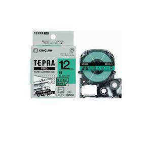 (まとめ) キングジム テプラ きれいにはがせるラベルテープ (緑テープ/黒文字/12mm幅) SC12GE 【×5セット】