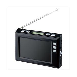 YAZAWA 4.3インチディスプレイ ワンセグラジオ(ブラック) TV03BK
