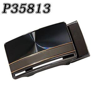 (まとめ) TENKAPAS 無段階調整 快適便利 オートロック 本革 ベルト メンズ P35813 【×2セット】