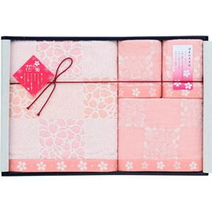 UCHINO ギフトセレクション 花小箱 今治桜 タオルセット L2058060