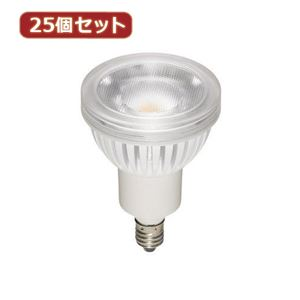 YAZAWA 25個セット ハロゲン形LEDランプ4.3W2700K60°(超広角タイプ) LDR4LWWE11X25
