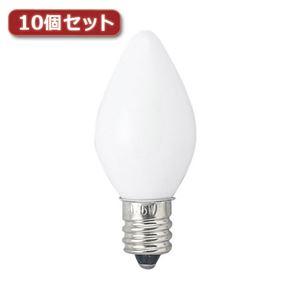 (まとめ)YAZAWA ローソク球 E12 5W 白 2個パック10個セット 1CC2PX10【×2セット】