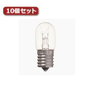 (まとめ)YAZAWA ナツメ球 E17 15W クリア10個セット T201715CX10【×2セット】