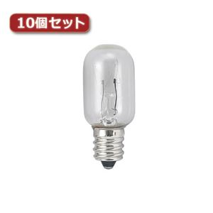 (まとめ)YAZAWA ナツメ球 E17 20W クリア10個セット T201720CX10【×2セット】