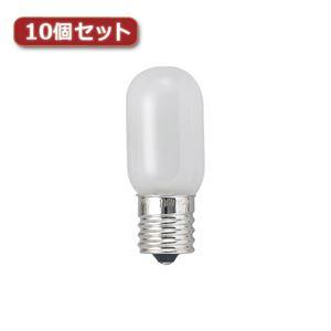 (まとめ)YAZAWA ナツメ球 T20 E12 10W ホワイト10個セット T201210WX10【×2セット】