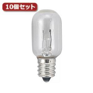 (まとめ)YAZAWA ナツメ球 T20 E12 20W クリア10個セット T201220CX10【×2セット】