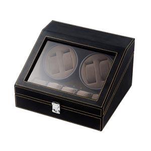 エスピーアイ 合皮4連ワインディングマシーン ブラック/ブラウン SP43014LBK