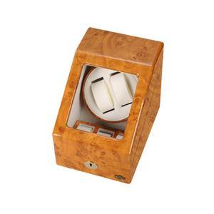 ローテンシュラガー 木製2連ワインディングマシーン ライトブラウン/薄木目 LU20001RW