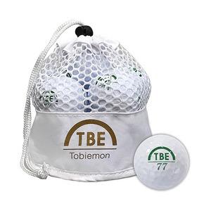 12個セット TOBIEMON 2ピース カラーボール メッシュバック入り ホワイト TBM-2MBWX12