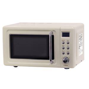 エスキュービズム 単機能レトロ調 電子レンジ 20L レトロホワイト ヘルツフリー WDR-W20HF-W