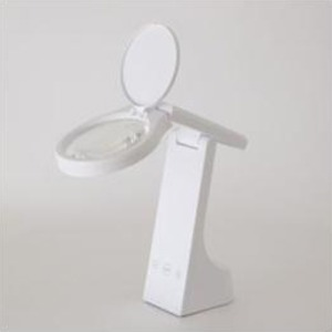 ツインバード 充電式LEDルーペライト ホワイト LE-H319W