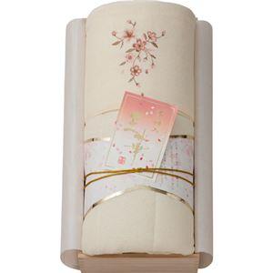 桜刺しゅうパイル肌布団(木箱入) ベージュ B4147594