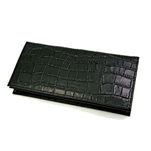 J.HARRISON 牛革(床革)クロコ型押し・長札、カード、コイン入れ付財布 jwt-009