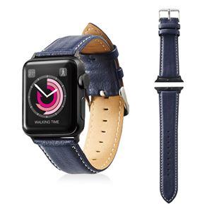 エレコム Apple Watch 38mm/ソフトレザーバンド/ラウンドボートタイプ/ネイビー AW-38BDLRBBU