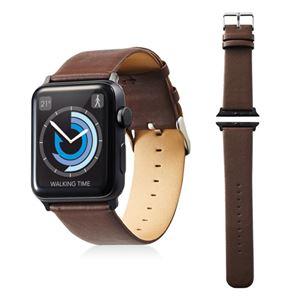 エレコム Apple Watch 42mm/ソフトレザーバンド/フラットスクエアタイプ/ブラウン AW-42BDLFSBR