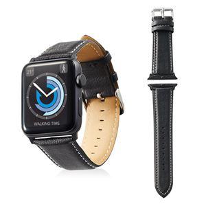 エレコム Apple Watch 42mm/ソフトレザーバンド/ラウンドボートタイプ/ブラック AW-42BDLRBBK