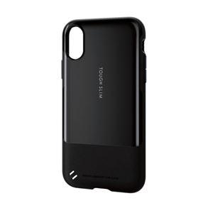 (まとめ)エレコム iPhoneX/TOUGH SLIM/ブラック PM-A17XTSBK【×2セット】