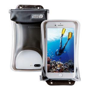 (まとめ)エレコム スマートフォン用防水・防塵ケース/水没防止タイプ/Lサイズ/ブラック P-WPSF02BK【×2セット】