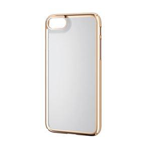 (まとめ)エレコム iPhone8/シェルカバー/極み/サイドメッキ/ゴールド PM-A17MPVKMGD【×2セット】