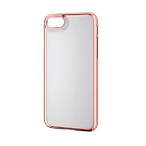 (まとめ)エレコム iPhone8/シェルカバー/極み/サイドメッキ/ローズゴールド PM-A17MPVKMPN【×2セット】