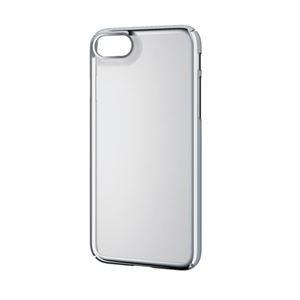 (まとめ)エレコム iPhone8/シェルカバー/極み/サイドメッキ/シルバー PM-A17MPVKMSV【×2セット】