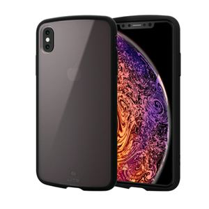 (まとめ)エレコム iPhone XS Max/TOUGH SLIM LITE/クリア/ブラック PM-A18DTSLCBK【×2セット】