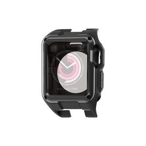 (まとめ)エレコム Apple Watch 38mm/ZEROSHOCKケース/ブラック AW-38ZEROBK【×2セット】