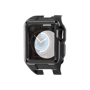 (まとめ)エレコム Apple Watch 42mm/ZEROSHOCKケース/ブラック AW-42ZEROBK【×2セット】