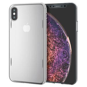 (まとめ)エレコム iPhone XS/シェルカバー/AQUA/クリア PM-A18BAQCR【×2セット】