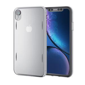 (まとめ)エレコム iPhone XR/シェルカバー/AQUA/クリア PM-A18CAQCR【×2セット】