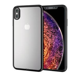 (まとめ)エレコム iPhone XS Max/ソフトケース/サイドメッキ/ブラック PM-A18DUCTMBK【×2セット】
