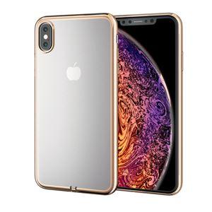 (まとめ)エレコム iPhone XS Max/ソフトケース/サイドメッキ/ゴールド PM-A18DUCTMGD【×2セット】