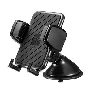 (まとめ)サンワサプライ スマートフォン用車載ホルダー(手帳型ケース対応・オンダッシュタイプ) CAR-HLD11BK【×2セット】