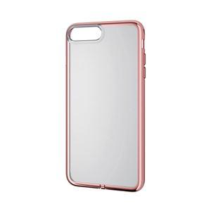 (まとめ)エレコム iPhone8Plus/ソフトケース/サイドメッキ/ローズゴールド PM-A17LUCTMPN【×2セット】