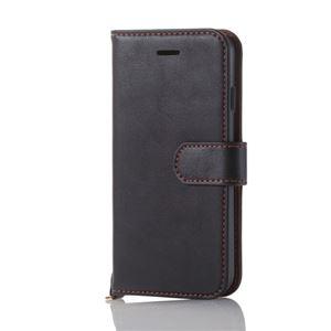 (まとめ)エレコム iPhone8/ソフトレザーカバー/磁石付スナップ/ブラック PM-A17MPLFDBBK【×2セット】
