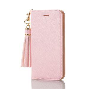 (まとめ)エレコム iPhone8/ソフトレザーカバー/女子向/タッセル/ピンク PM-A17MPLFTLPN【×2セット】