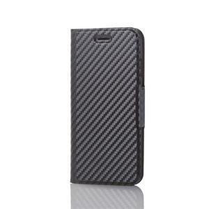 (まとめ)エレコム iPhone8/ソフトレザーカバー/薄型/磁石付/カーボン調(ブラック) PM-A17MPLFUCB【×2セット】