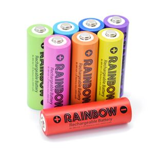 (まとめ)BP&S RAINBOW 単3形8本パック BPS-3NIJI8P【×2セット】