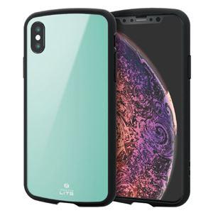 (まとめ)エレコム iPhone XS/TOUGH SLIM LITE/ライトブルー PM-A18BTSLBUL【×2セット】